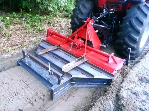 Here you see a Farm Hack example: A raised bed shaper