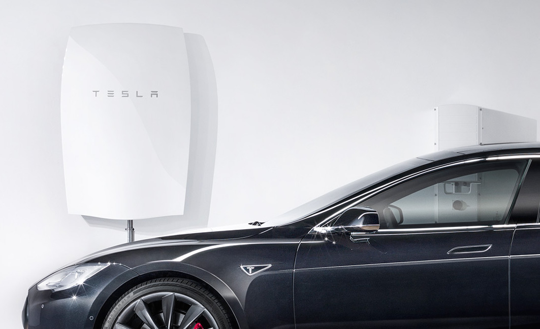 The Powerwall and the Tesla Model S car