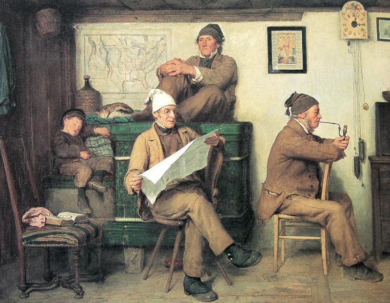 Anker Die Bauern und die Zeitung 1867
