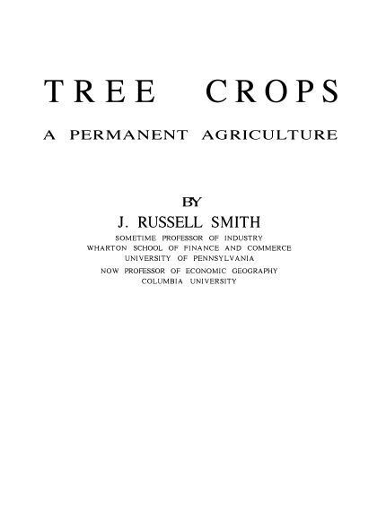 Tree Crops - A Permanent Agriculture